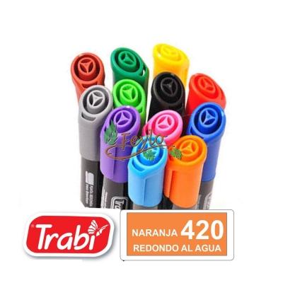 Marcadores Al Agua Marker Redondo 420 Naranja