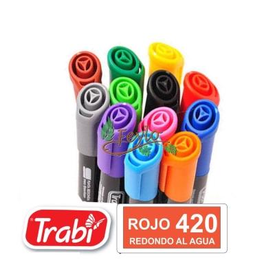 Marcadores Al Agua Marker Redondo 420 Rojo