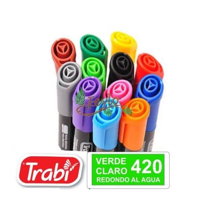 Marcadores Al Agua Marker Redondo 420 Verde Claro