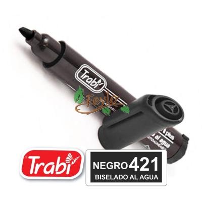Marcadores Al Agua Marker Biselado 421 Negro