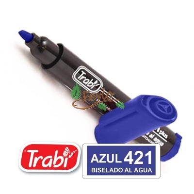 Marcadores Al Agua Marker Biselado 421 Azu