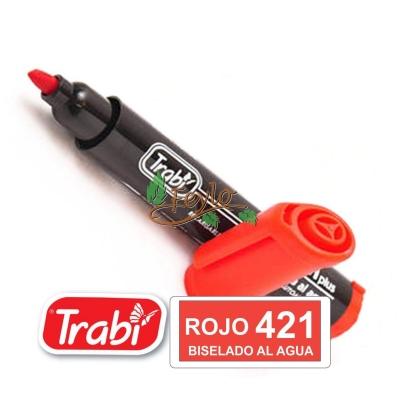 Marcadores Al Agua Marker Biselado 421 Rojo