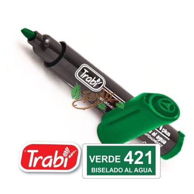 Marcadores Al Agua Marker Biselado 421 Verde