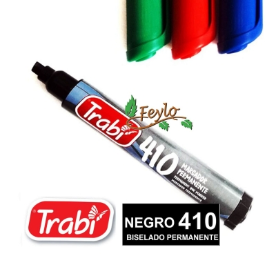 Marcadores Permanente Biselado 410 Negro