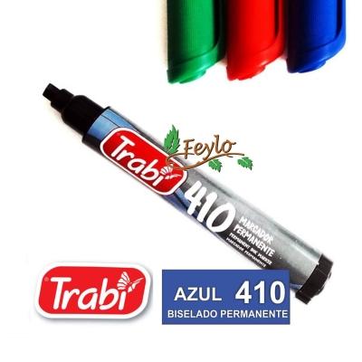 Marcadores Permanente Biselado 410 Azul