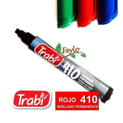 Marcadores Permanente Biselado 410 Rojo