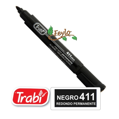 Marcadores Permanente Redondo 411 Negro