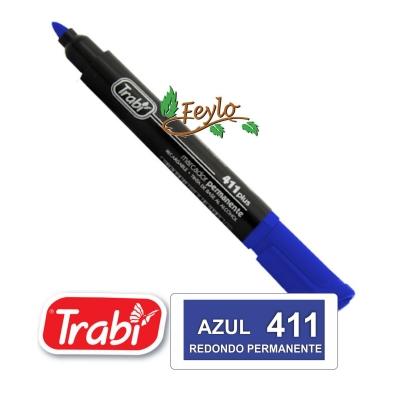 Marcadores Permanente Redondo 411 Azul