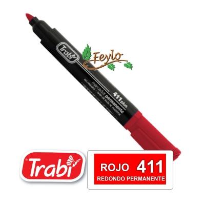Marcadores Permanente Redondo 411 Rojo