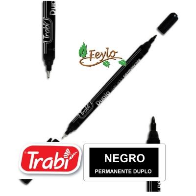 Marcadores Permanente Duplo Negro