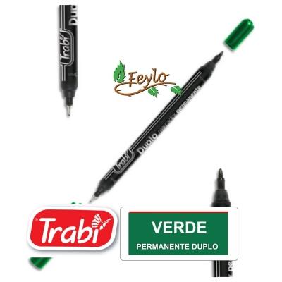 Marcadores Permanente Duplo Verde