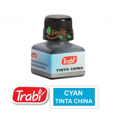 Tinta China Trabi X 15cc Cyan