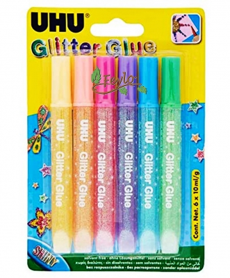 Uhu Glitter Glue X 20ml X 6 Unidades Oferta