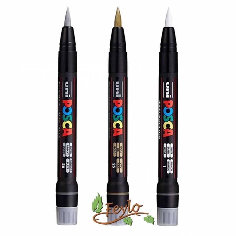 Marcador Posca -350 (punta Pincel) 1-10mm