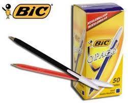 Boligrafos Bic Opaco (negro - Azul-verde-rojo)