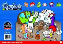 Block Dibujo Triunfante Nº6 X 20 Hjs Blanca