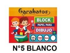 Block Garabato N5 Blanco X 20 Hojas