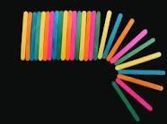Palito De Helado Colores Varios X 50 Unidades