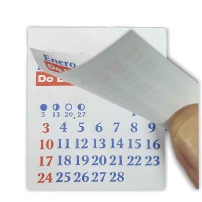 Almanaque Mensual Mignon X 10 Unidades