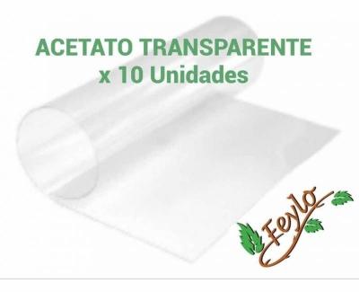 Promo Acetato Transparente (50x60) 200 Mc. X 10 Unidades